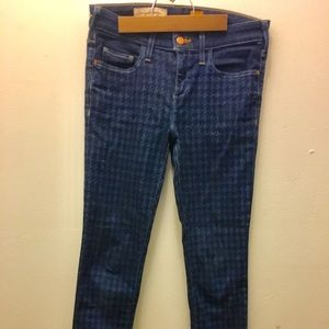 Anthropolgie Pilcro Houndstooth Denim skinny Jeans